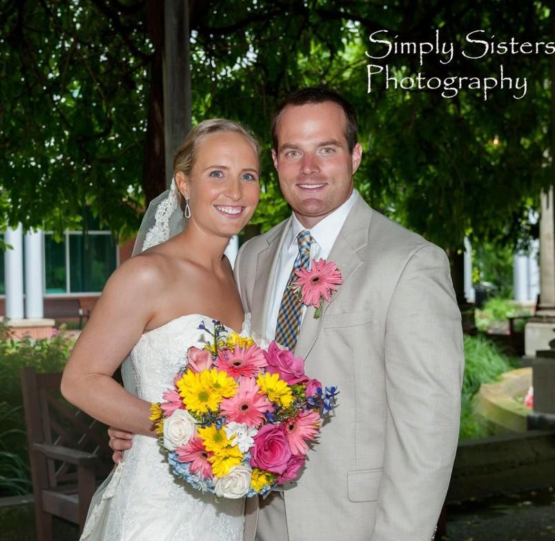 Memorial Hall Pittsburgh Wedding Bride and Groom Married