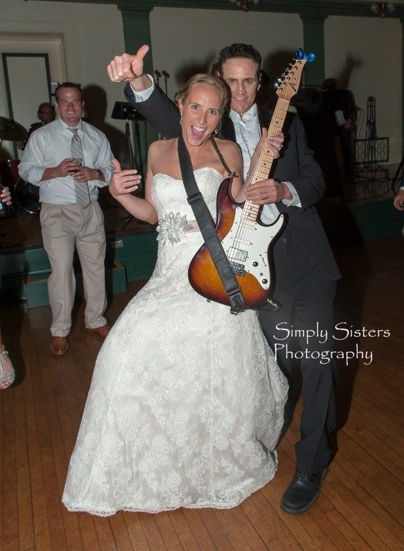 Memorial Hall Pittsburgh Wedding City Heat Band and Bride