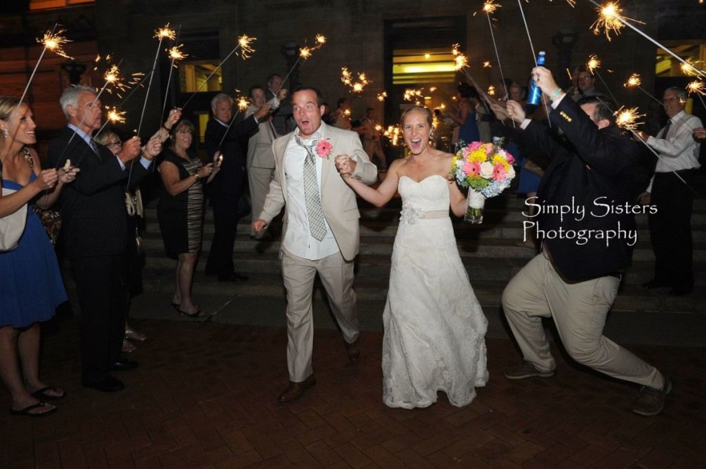 Memorial Hall Pittsburgh Wedding Bride and Groom Send Off