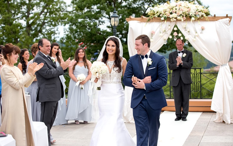 Nemacolin Woodlands Pittsburgh Wedding Walking Down the Aisle