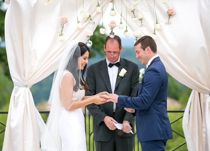 Nemacolin Woodlands Pittsburgh Wedding Bride and Groom Exchange Rings