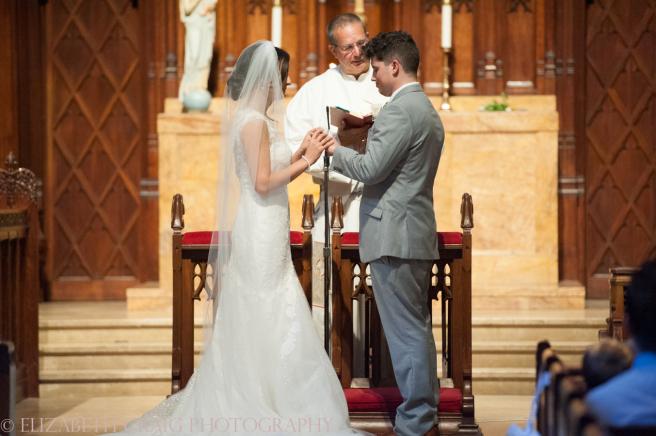 University Club Pittsburgh Wedding Exchange Rings