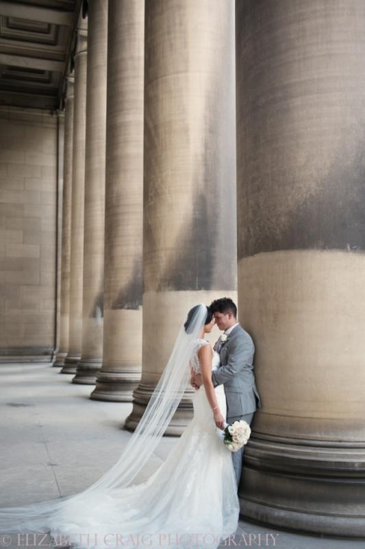 University Club Pittsburgh Wedding Newlyweds