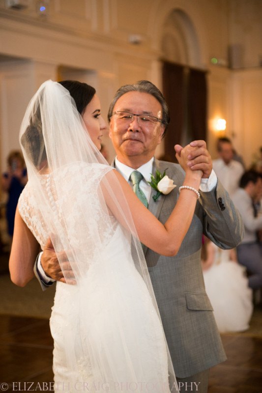 University Club Pittsburgh Wedding Bride and Father