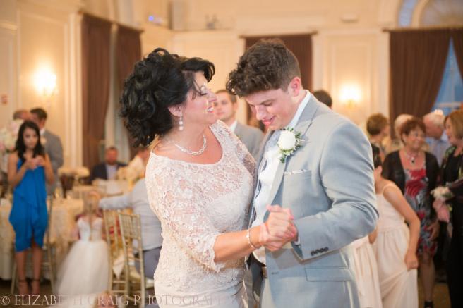 University Club Pittsburgh Wedding Groom and Mom Dance