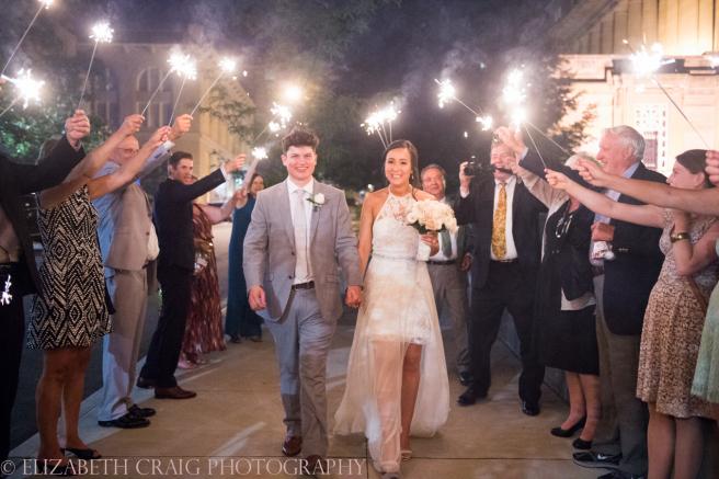 University Club Pittsburgh Wedding Sparkler Sendoff