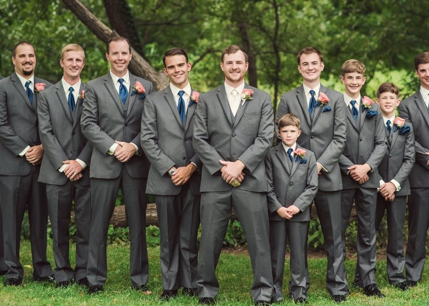 Ambassador Center Pittsburgh Wedding Formal Groomsmen Outdoors