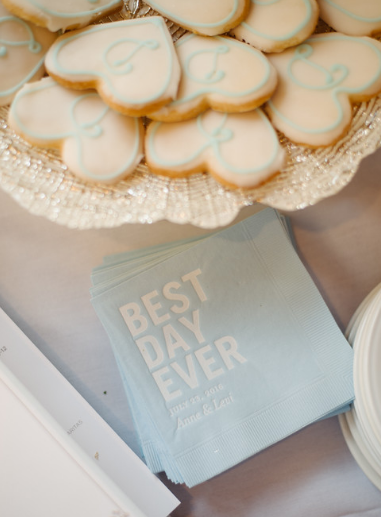 Seven Springs Pittsburgh Wedding Heart Cookies