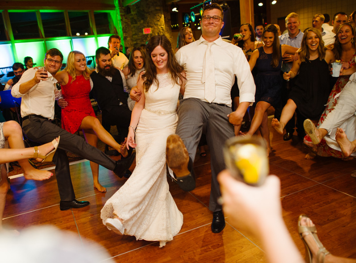 Seven Springs Pittsburgh Wedding Newlyweds Dancing