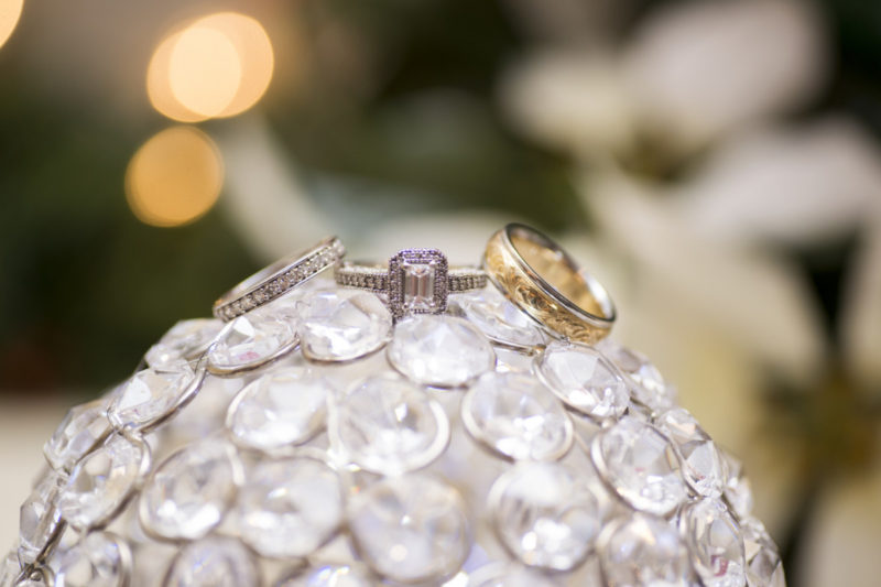 Wedding Rings on Crystal