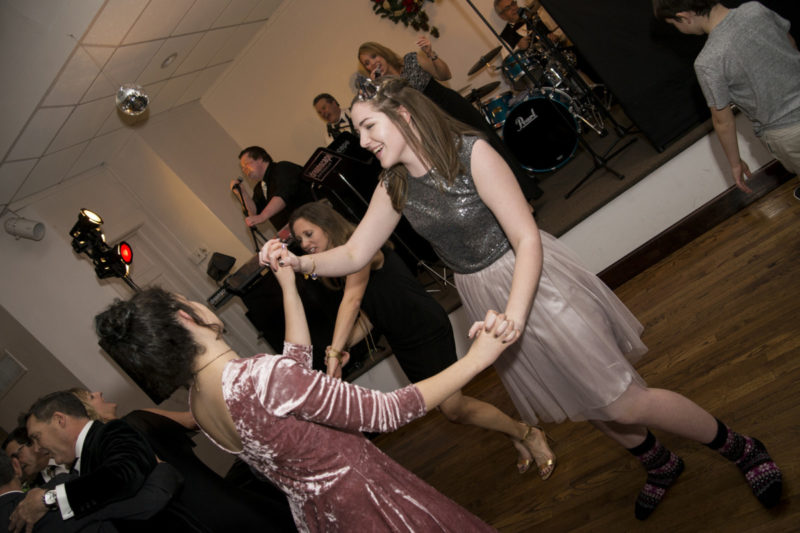 young guests dance during wedding at Camelot Banquet Center Pittsburgh