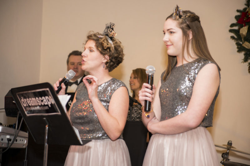bridesmaids toast at Camelot Banquet Center Pittsburgh