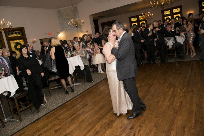 beide & groom dance at Camelot Banquet Center Pittsburgh