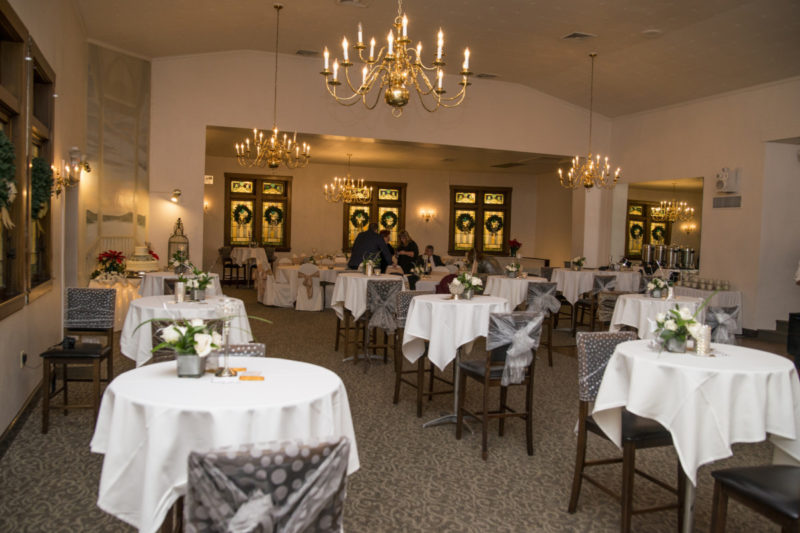 dinner tables at Camelot Banquet Center Pittsburgh wedding