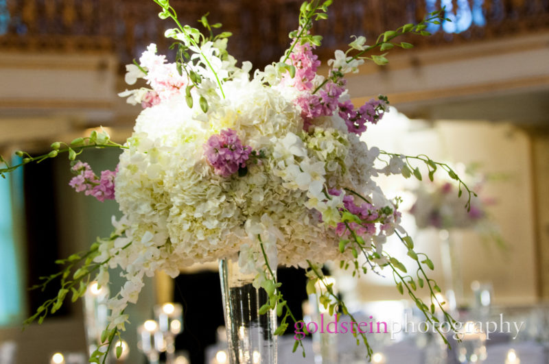 Large Wedding Centerpiece by Mocha Rose at William Penn Hotel Pittsburgh