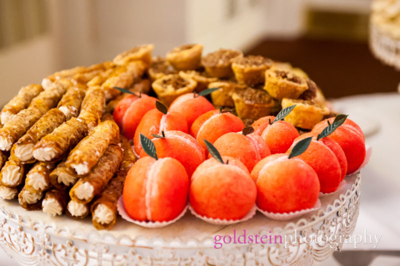 Peach Cookies at Wedding Dessert Cookie Tray