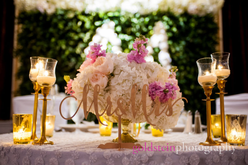 Wedding Centerpiece by Mocha Rose Hydrangea Roses Orchids