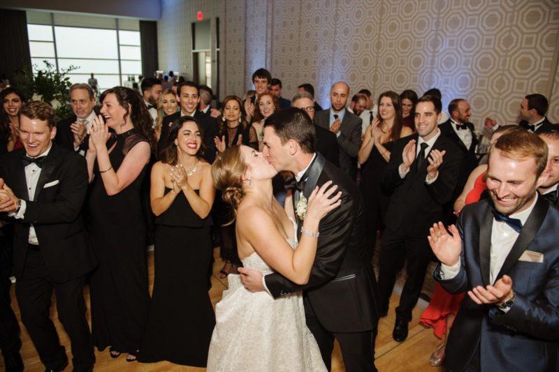 Fairmont Hotel Pittsburgh Wedding Bride Groom Kissing