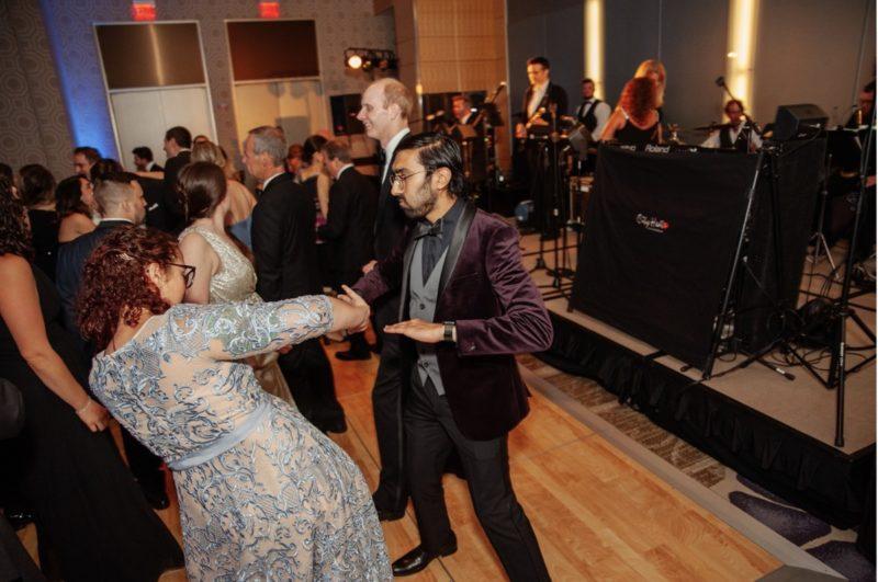Fairmont Hotel Pittsburgh Wedding dancing guests